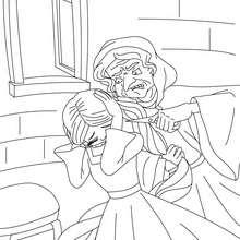 Desenho da Rapunzel e da Gothel para colorir
