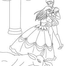 Desenho do conto PELE DE ASNO para colorir