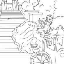 Desenho para colorir do conto de fada da CINDERELA