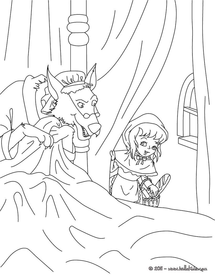 Desenho do conto do CHAPEUZINHO VERMELHO para colorir