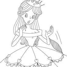perrault, Desenho do conto de fada da BELA ADORMECIDA para colorir