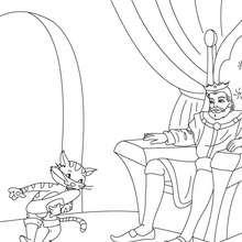 Desenho para colorir do conto de fada do GATO DE BOTAS