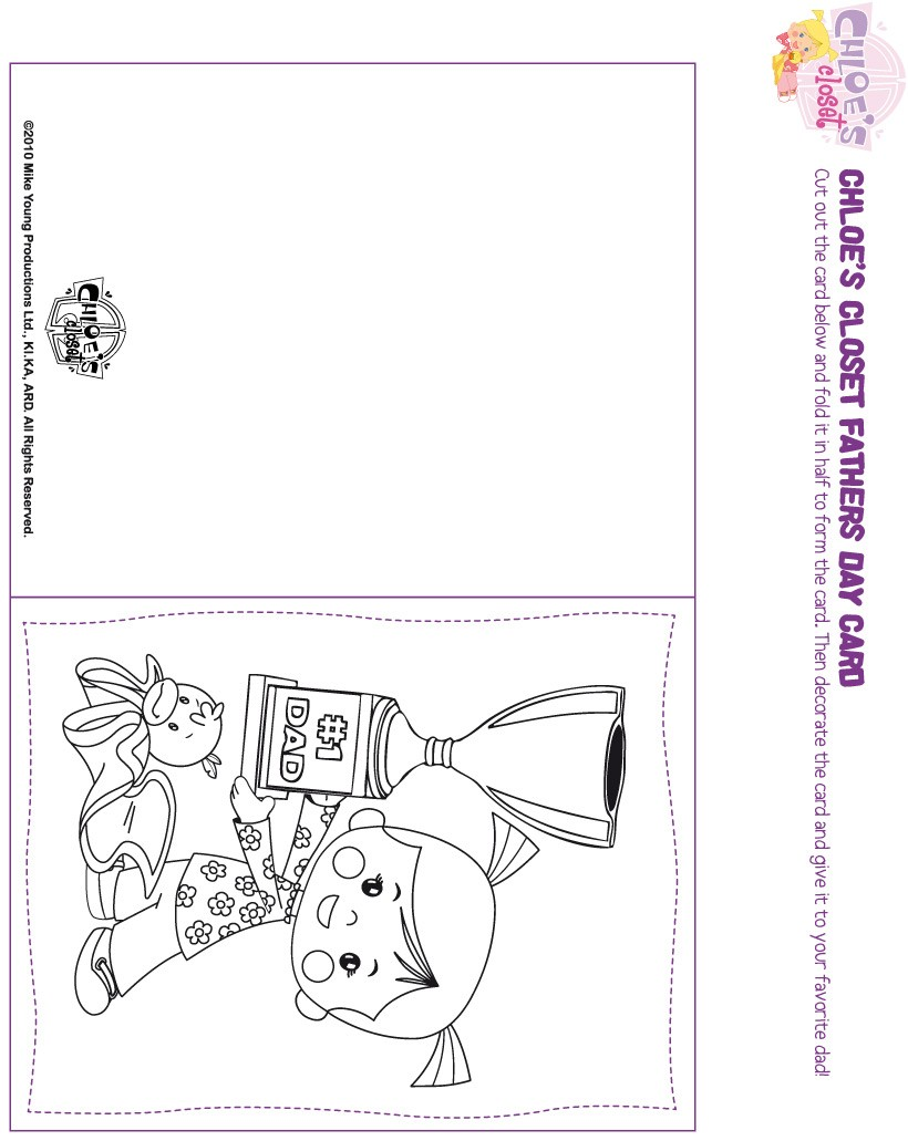 Cartão da Chloe para o Dia dos Pais