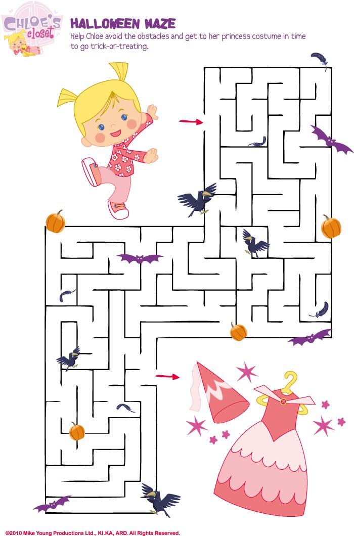 O armário da Chloe : Labirinto do Dia das Bruxas