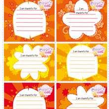 O Dia da ação de graças da Chloe : Cartões de Gratidão