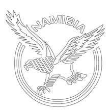 Desenho do time de Rugby da Namíbia para colorir