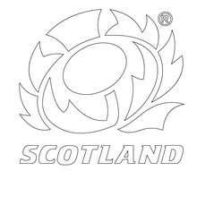 Desenho do time de Rugby da Escócia para colorir