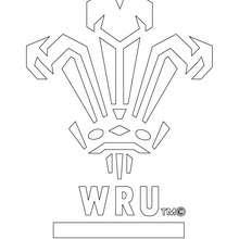 Desenho do time de Rugby de Gales WRU para colorir