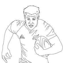 Desenho do jogador de Rugby DAN CARTER para colorir