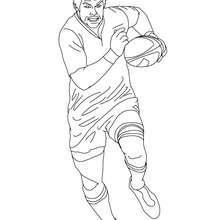 Desenho do jogador de Rugby RICHARD Mc CAW para colorir