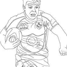 Desenho do jogador de Rugby BRIAN DRISCOLL para colorir