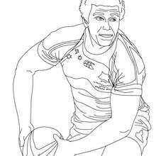Desenho do jogador de Rugby WILL GENIA para colorir