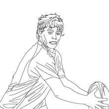 Desenho do jogador de Rugby JAMES O'CONNOR para colorir