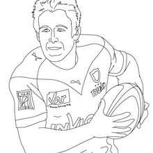 Desenho do jogador de Rugby JOHNNY WILKINSON para colorir