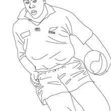 Desenho do jogador de Rugby JONAH LOMU para colorir