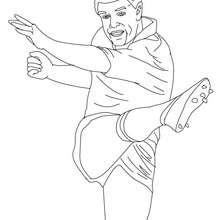 Desenho do jogador de Rugby GRANT FOX para colorir