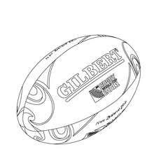 Desenho da bola oficial da copa do mundo de Rugby para colorir