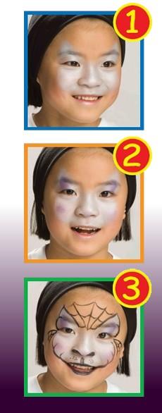 Pintura facial de GATO PRETO para meninas