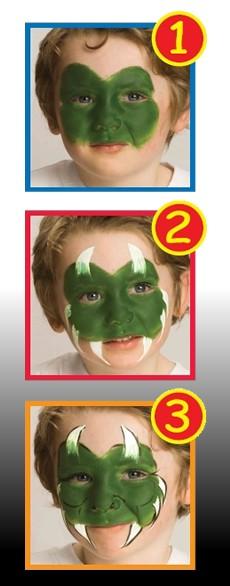 Pintura facial com caneta de MONSTRINHO para o dia das bruxas para crianças