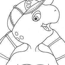 Desenho do Franklin sorridente para colorir