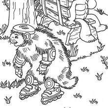 Desenho do Franklin e da Lontra para colorir
