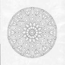 Mandala com GIRASSOL