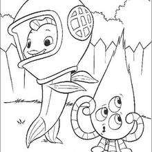 Desenhos Para Colorir De O Galinho Chicken Little E Kirby O Alien
