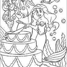 Bolo de aniversário da Ariel