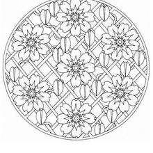 Mais Mandala floral para colorir