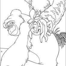 Colorindo Mogli e o Orangotango