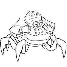 Waternoose com suas pernas de caranguejo