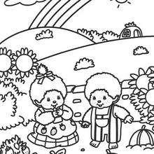 arco-íris, Colorindo Monchhichi e seu amiguinho
