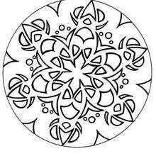 Desenho de um Mandala oriental para colorir