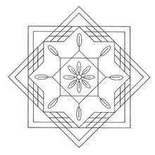 Mandala flor quadratica