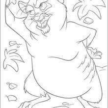 Colorindo um engraçado personagem