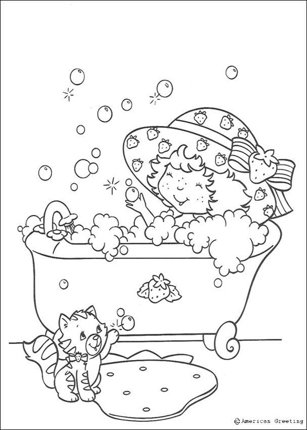 Moranguinho tomando um banho