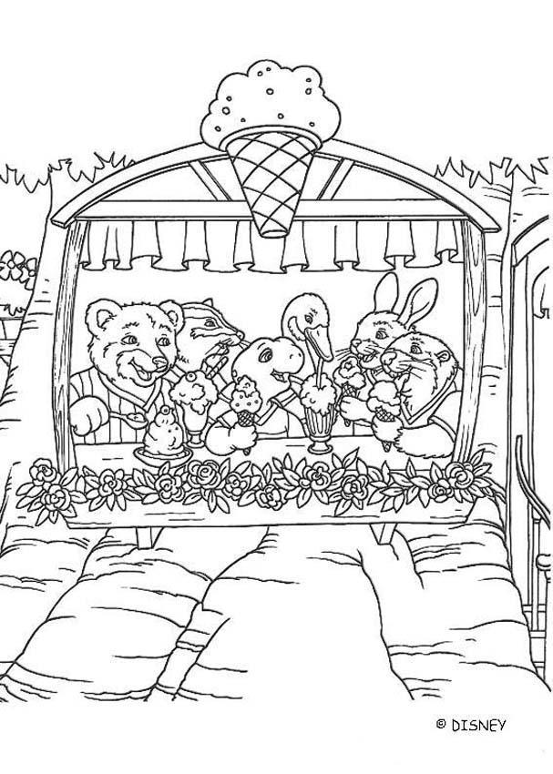 desenhos para colorir de desenho do franklin comendo um sorvete para