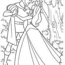 Aurora dançando com o príncipe