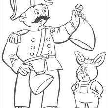 policial, Senhor Lei trabalhando, para colorir