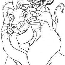Simba com Mufasa