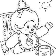 macaco, O bebê Monchhichi para colorir