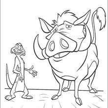 Timon e Pumba sorrindo