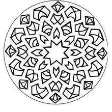 Mandala de São João para colorir