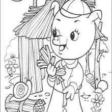 Cícero construindo sua casa de palha
