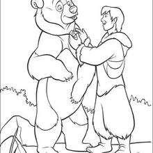 O Urso Kenai com o seu amuleto que estava com o seu irmão
