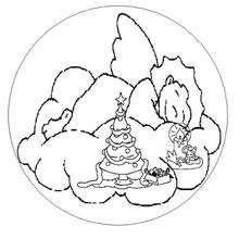 Mandala da árvore de natal para colorir