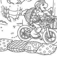 Desenho da Harriet andando de bicicleta para colorir