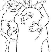 Desenho dos três irmãos para colorir