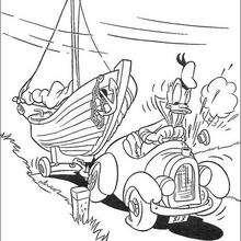 O Pato Donald no barco
