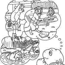 Desenho do Franklin com seus amigos para colorir